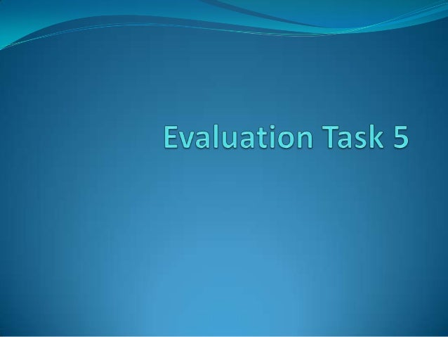Evaluation question 5 media