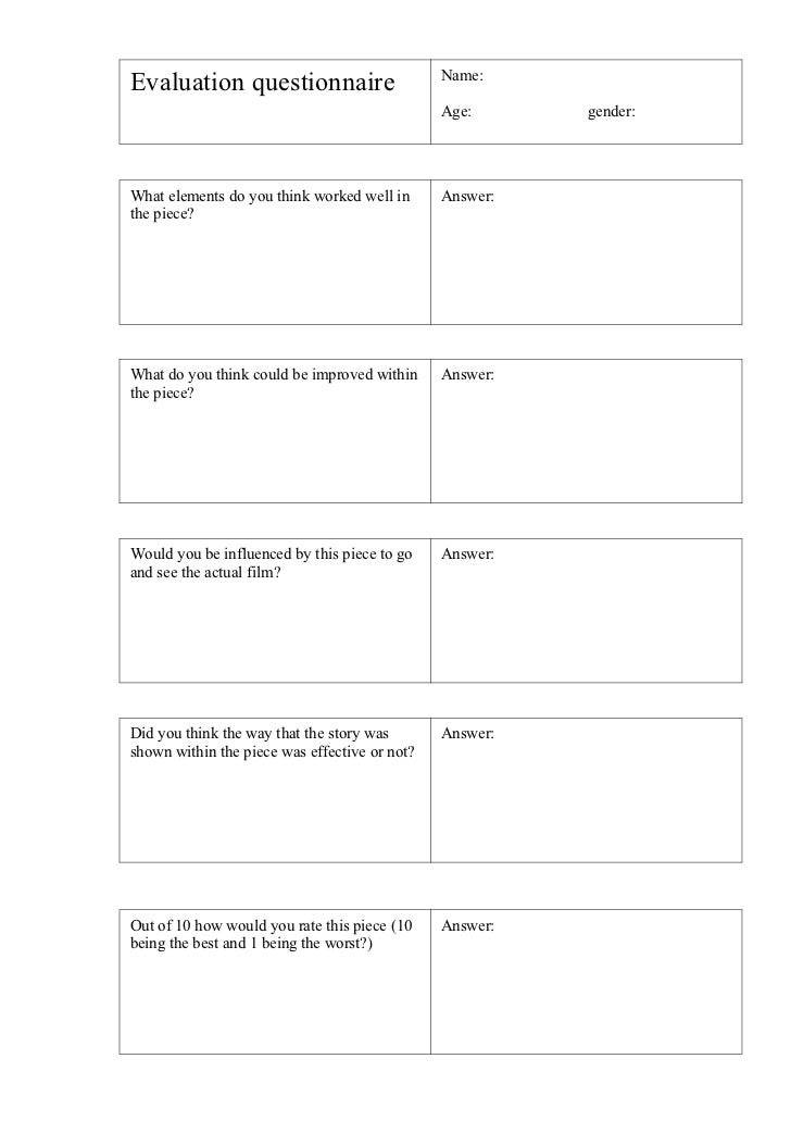 Name: Evaluation questionnaireEvaluation Questionnaire                        Age:      gender: What elements do you think...