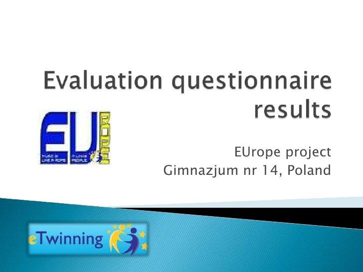 EUrope projectGimnazjum nr 14, Poland