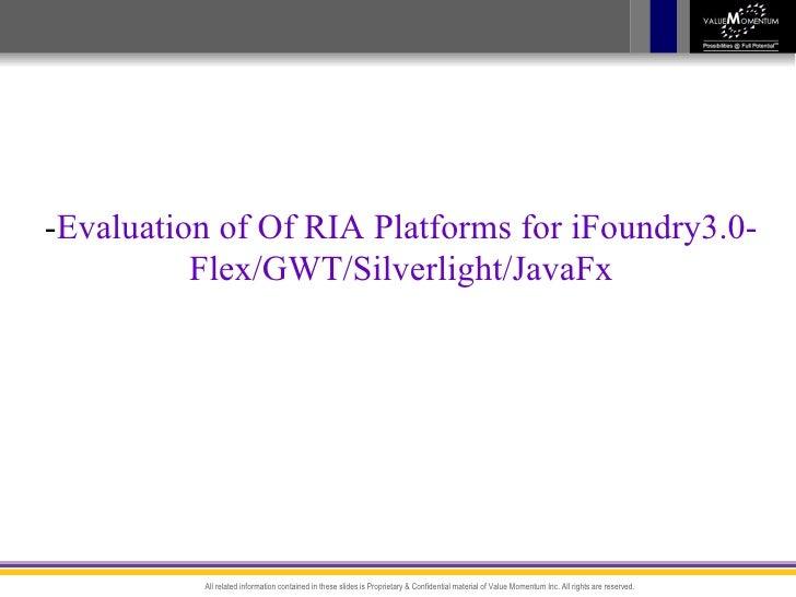 Evaluation Ria Frameworks
