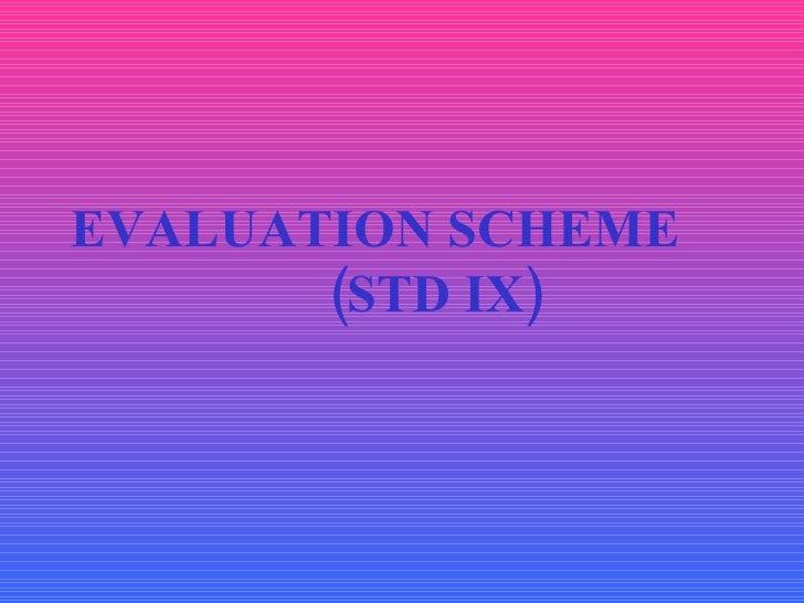 Evaluation Scheme Std IX