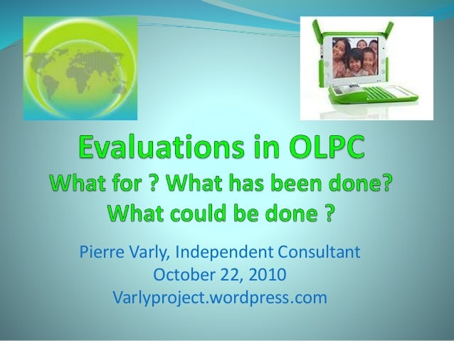 Evaluations in olpc