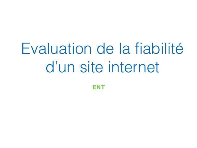 Evaluation de la fiabilité d'un site internet ENT