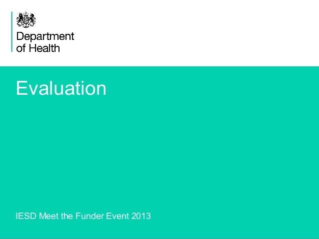 Evaluation slides meet the funder 2013