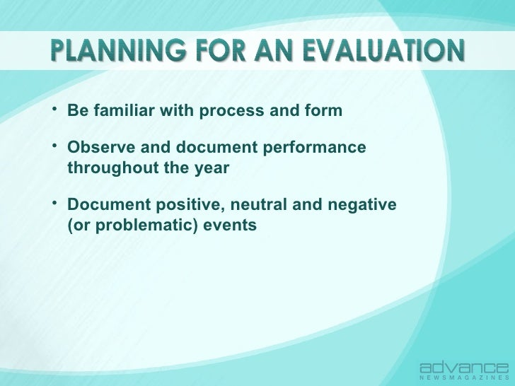 The art of evaluations