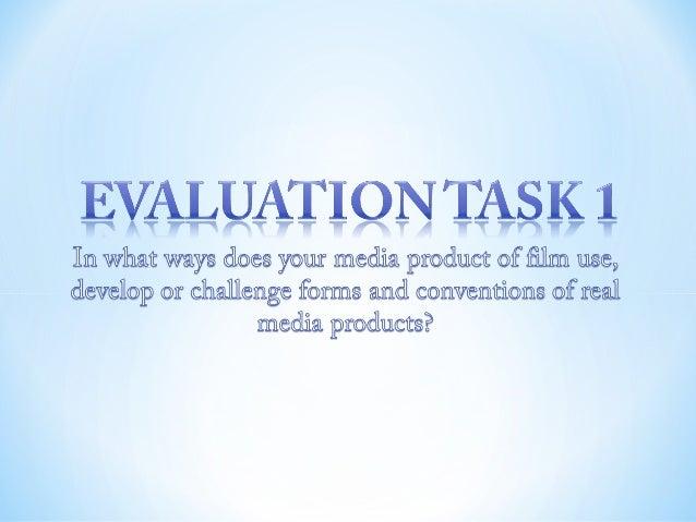 Evaluation task 1 final