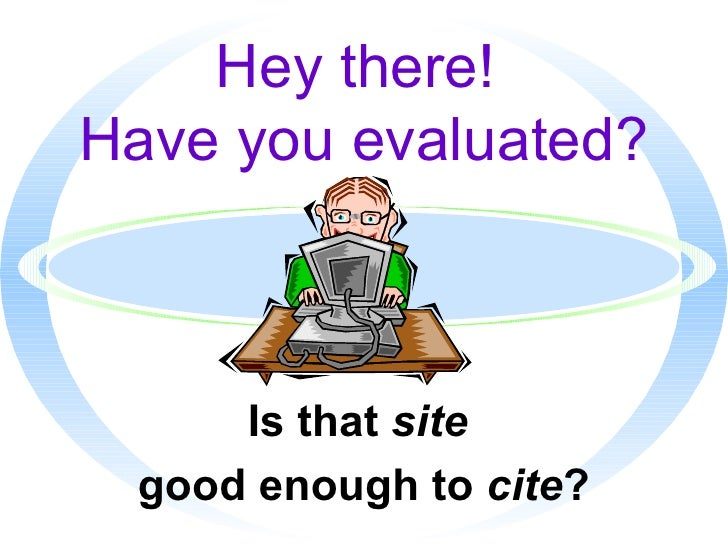 Evaluation Websites