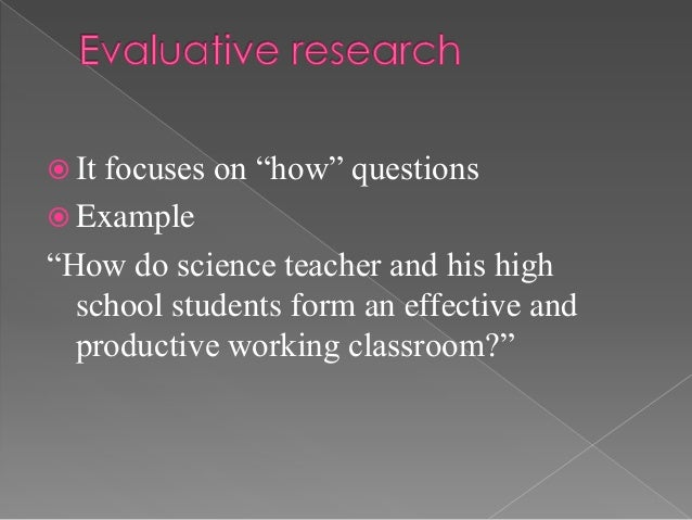 """ Itfocuses on """"how"""" questions Example""""How do science teacher and his high  school students form an effective and  produc..."""
