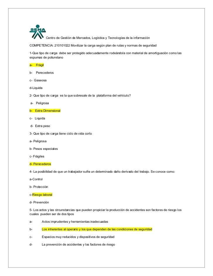 Centro de Gestión de Mercados, Logística y Tecnologías de la informaciónCOMPETENCIA: 210101022 Movilizar la carga según pl...