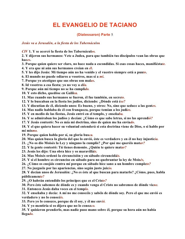 Evangelio De Taciano 5