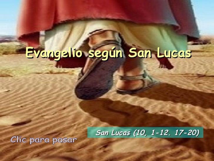 Evangelio san lucas 10, 1 12. 17-20