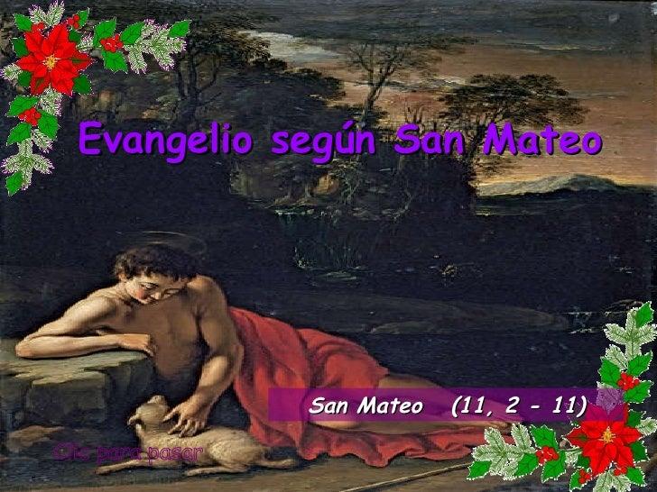 Evangelio san mateo 11, 2 11