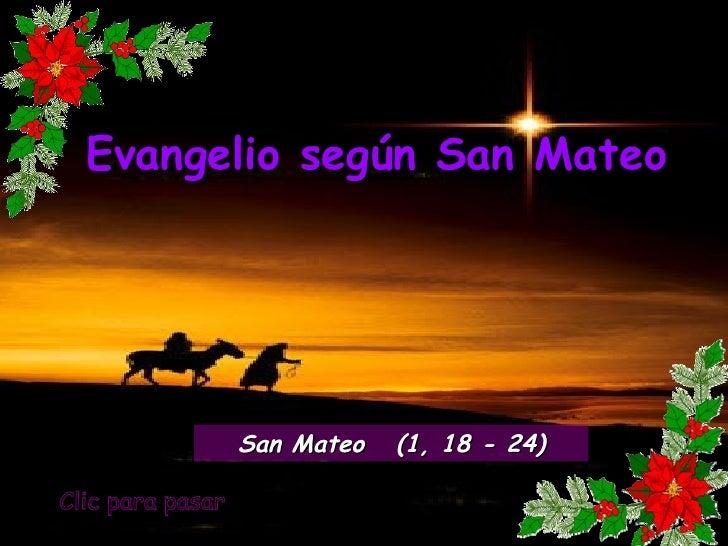 Evangelio san mateo 1, 18 24
