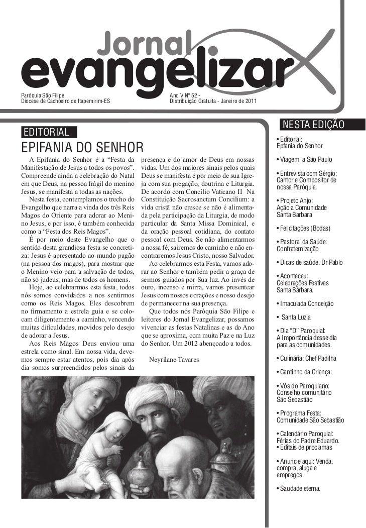 Jornal Evangelizar janeiro de  2012