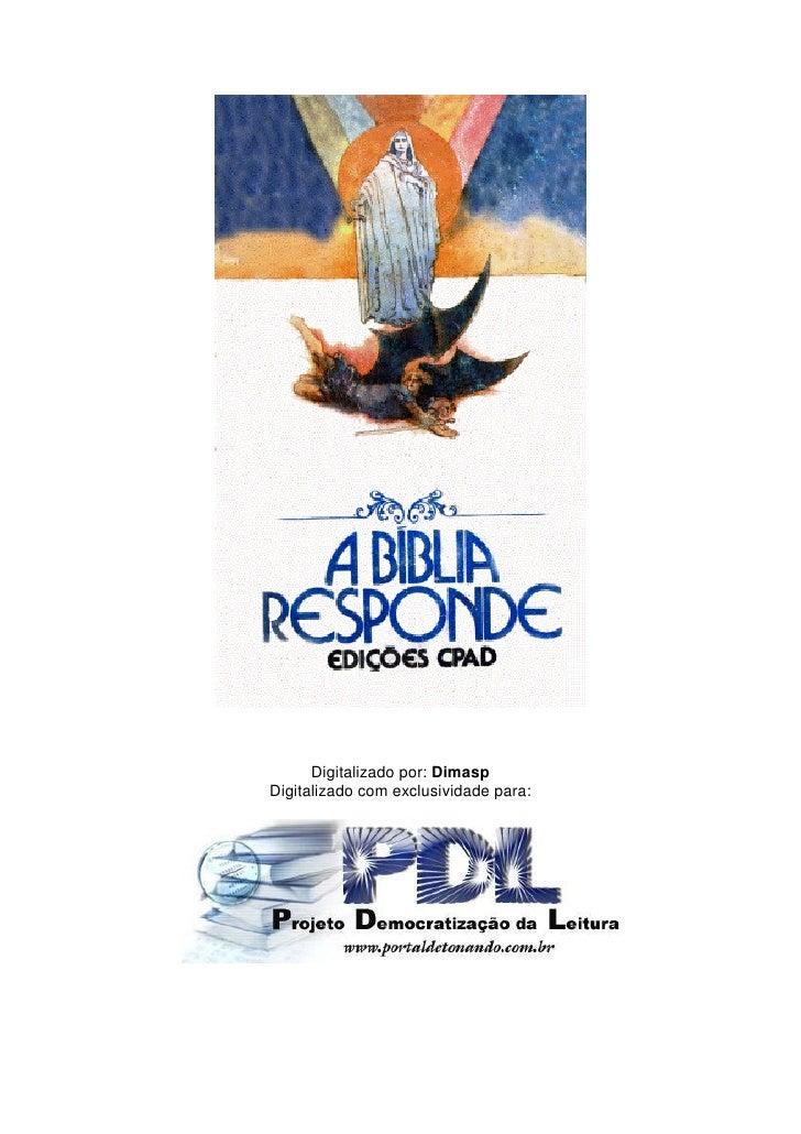 Evangélico   a bíblia responde - edições [vários autores]