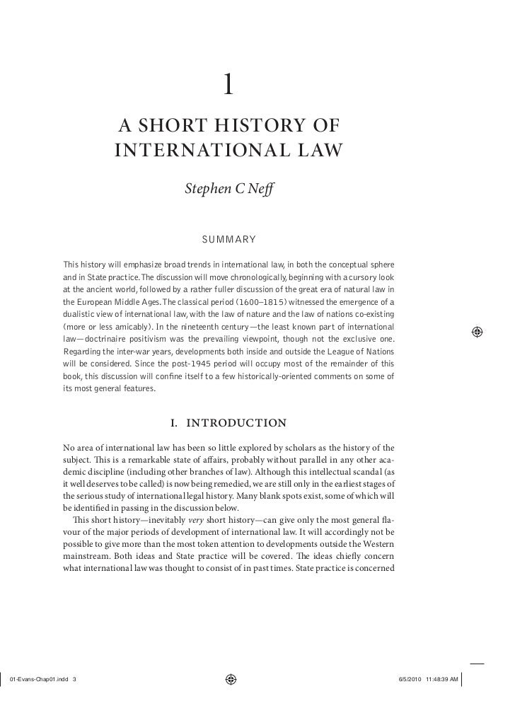 Stephen C. Neff - A Short History of International Law