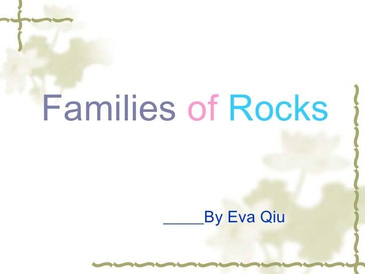 Eva power point families of rock