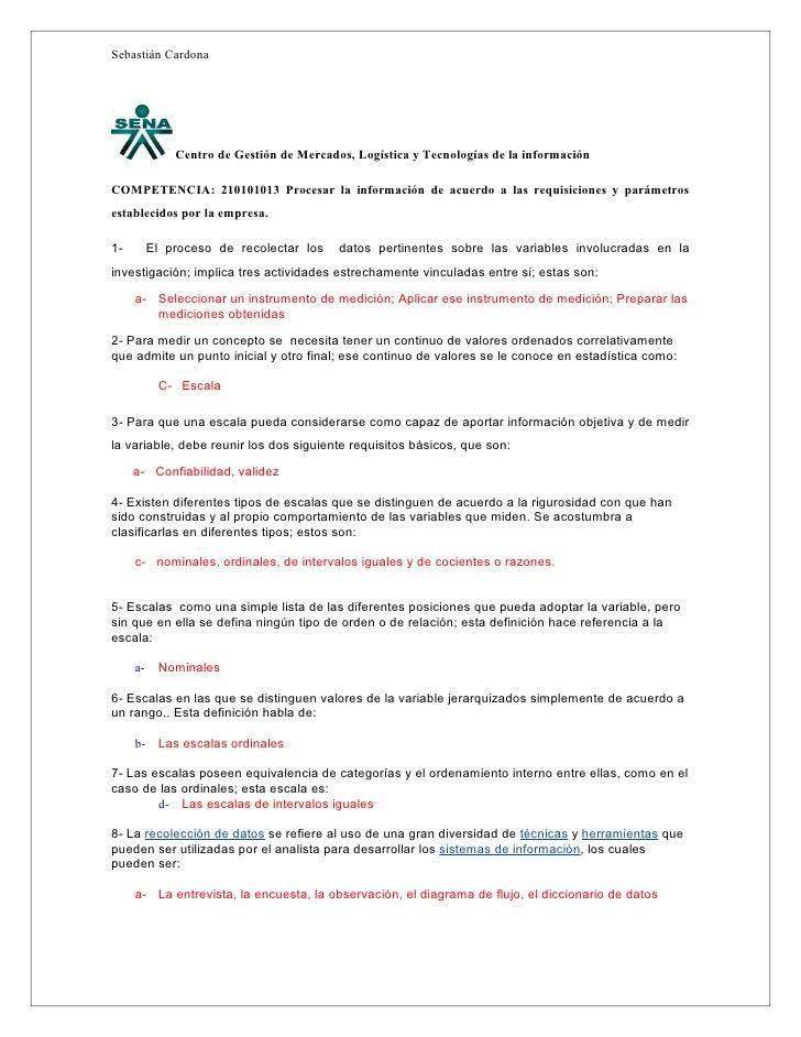Sebastián Cardona                   Centro de Gestión de Mercados, Logística y Tecnologías de la información  COMPETENCIA:...