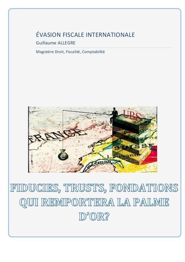 ÉVASION FISCALE INTERNATIONALE        Guillaume ALLEGRE        Magis...