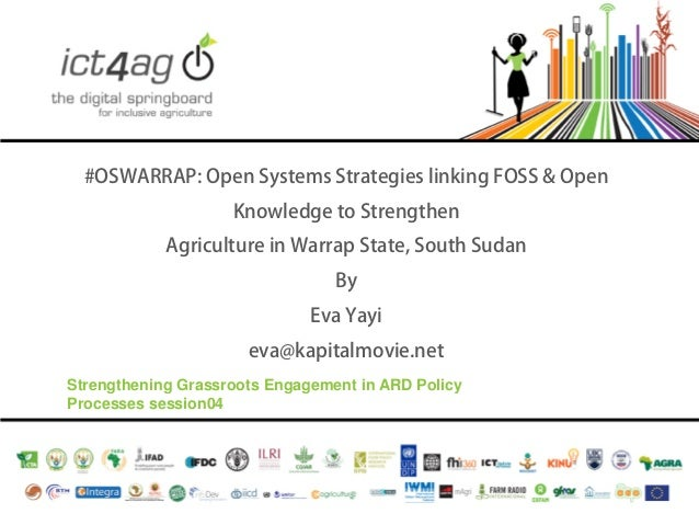 #OSWARRAP: Open Systems Strategies linking FOSS & Open Knowledge to Strengthen Agriculture in Warrap State, South Sudan