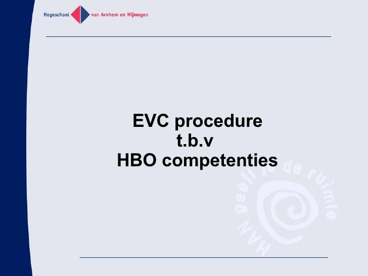 EVC bij de HAN