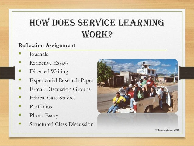 service learning hours essays