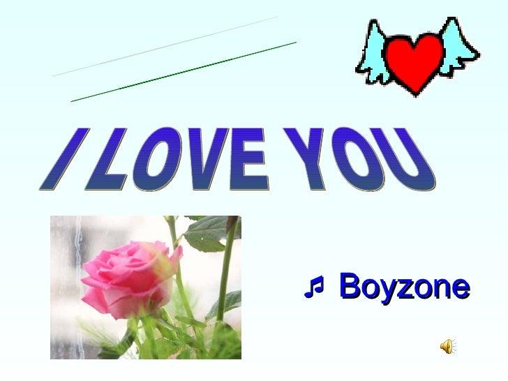    Boyzone   I LOVE YOU Everyday