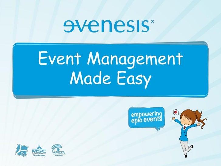Evenesis - Event Management Made Easy
