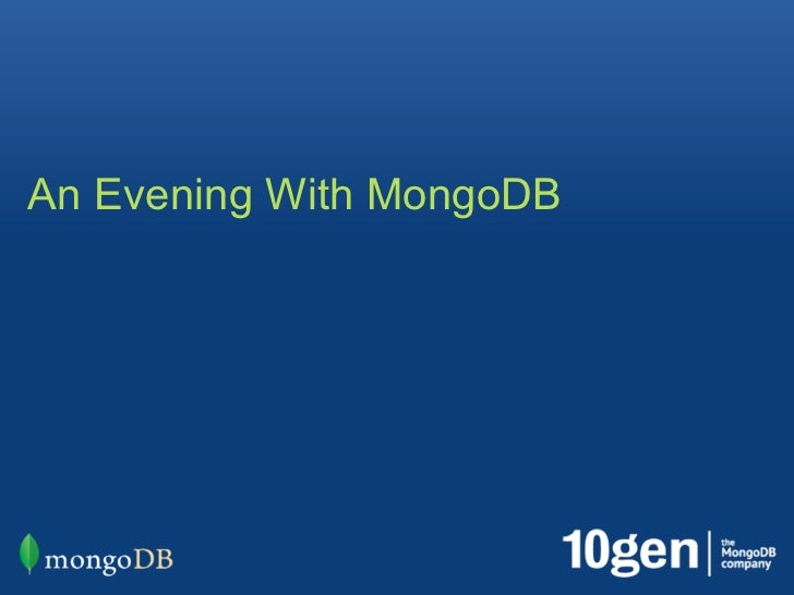 An Evening with MongoDB - Orlando: Welcome and Keynote