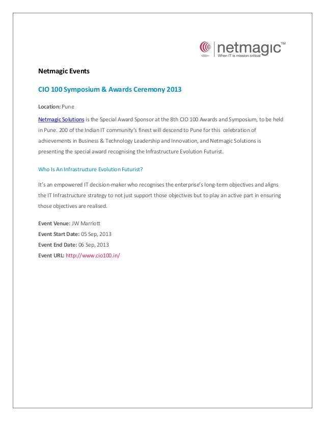 Event - CIO 100 Symposium & Awards Ceremony 2013