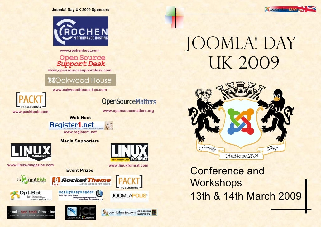 Joomla! Day UK 2009 Sponsors                                                                              Joomla! Day     ...