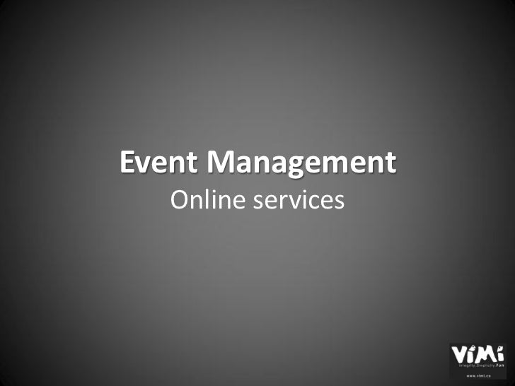 Event Management  Online services