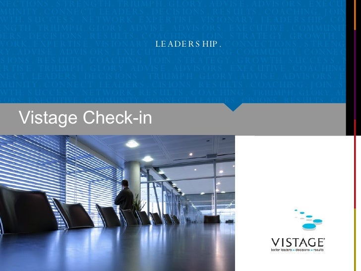 Vistage Check-in