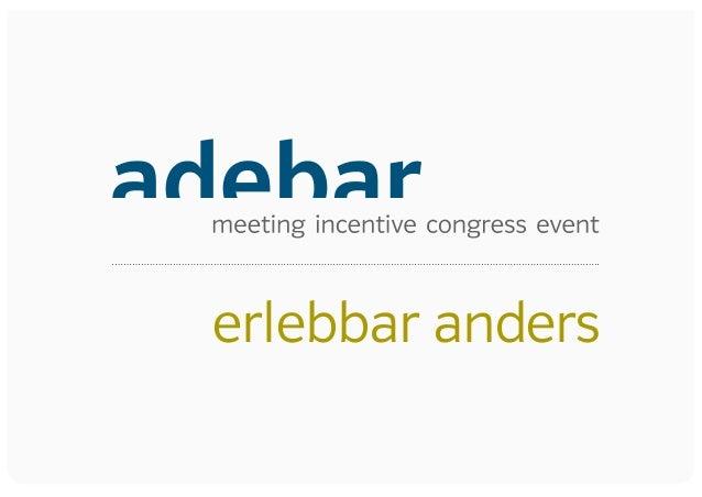 Eventagentur adebar Präsentation 2014
