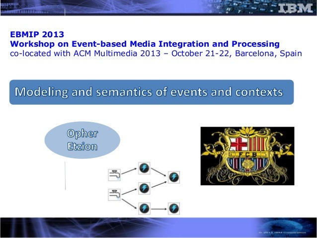 EBMIP 2013 Workshop on Event-based Media Integration and Processing co-located with ACM Multimedia 2013 – October 21-22, B...