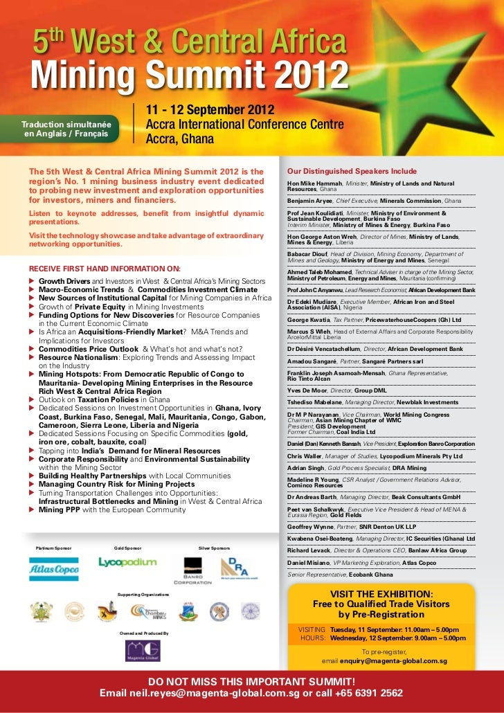 2012 Mining Summit_Event Brochure