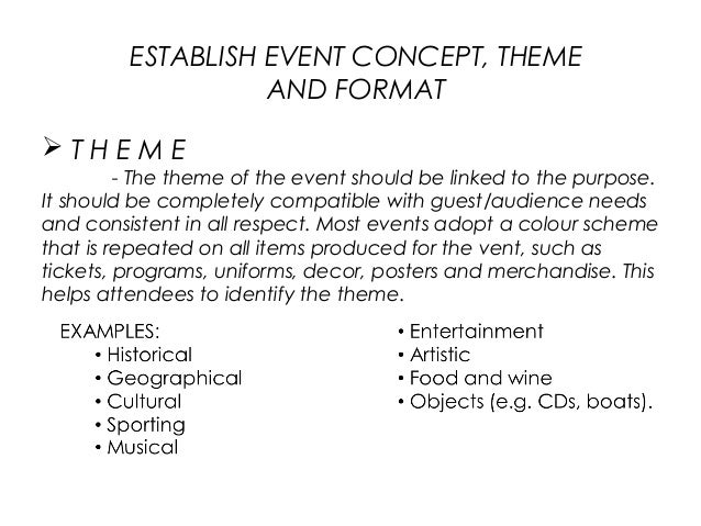 thesis on event managment Set thesis builds on the research previously conducted by professor  organisers of the event to estimate their power requirements, which are then met by the.