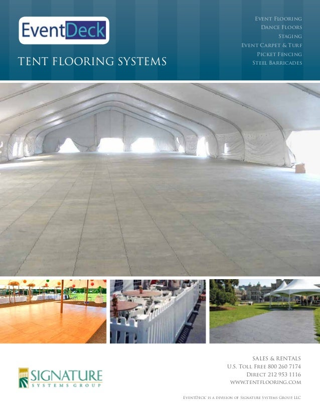 Event deck tent flooring systems brochure 2014