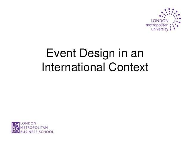 Event Design in anInternational Context