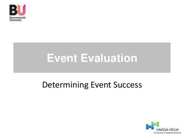 Event EvaluationDetermining Event Success