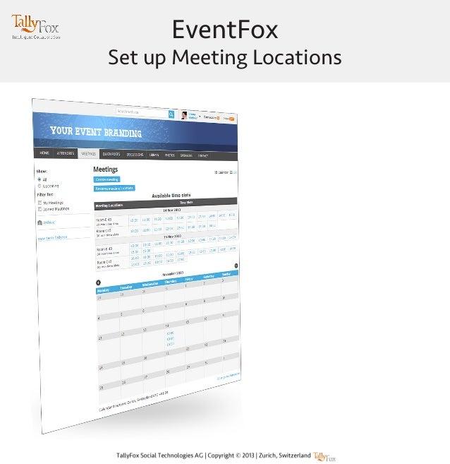 EventFox  Set up Meeting Locations