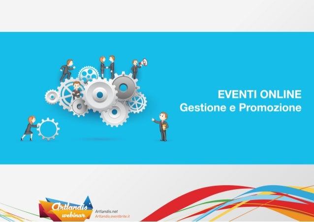 Eventi online - gestione e promozione