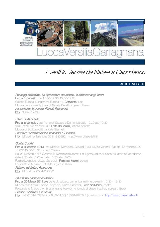 Eventi in Versilia - NATALE 2013