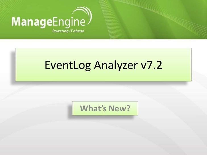 ManageEngine EventLog Analyzer v7. 2