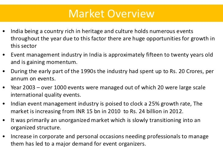 Business plan for events company