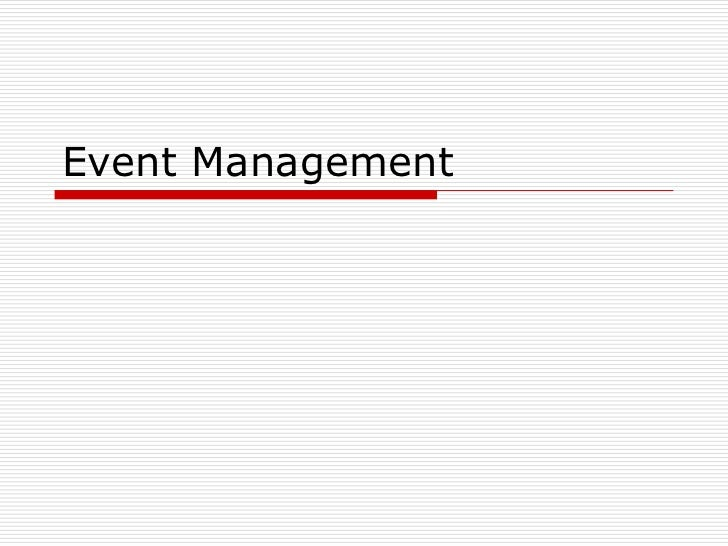 Event management3