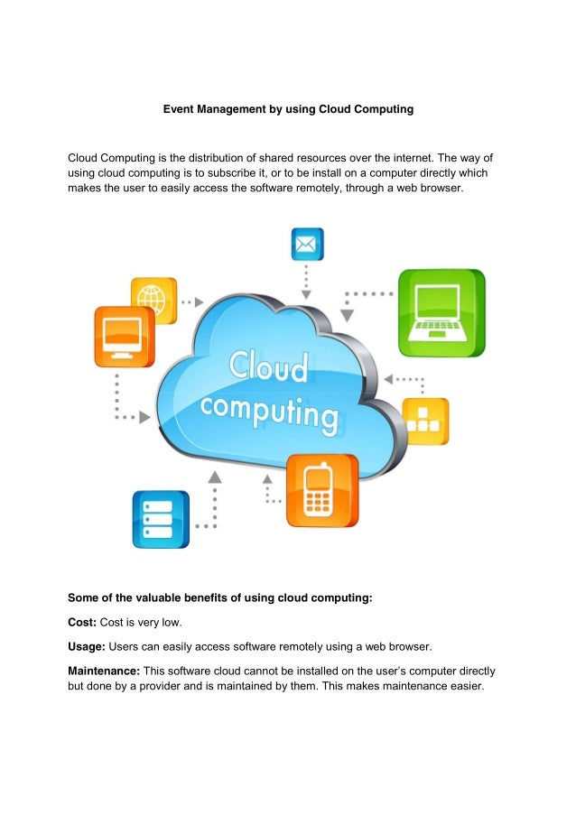 Event management by using cloud computing
