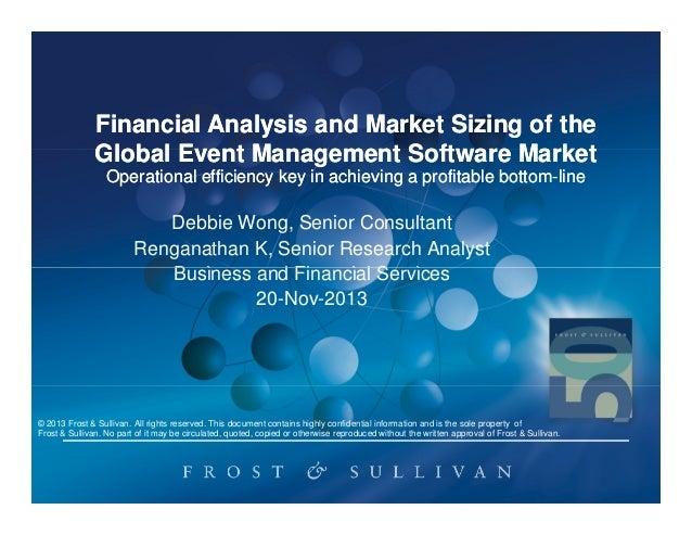 Financial Analysis and Market Sizing of the Global Event Management Software Market Operational efficiency key in achievin...