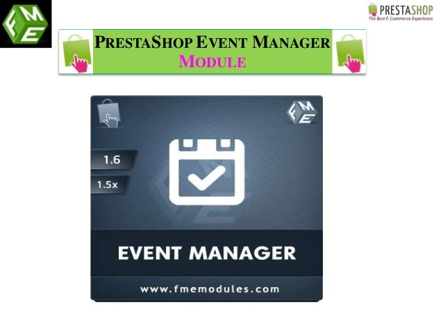 PRESTASHOP EVENT MANAGER MODULE