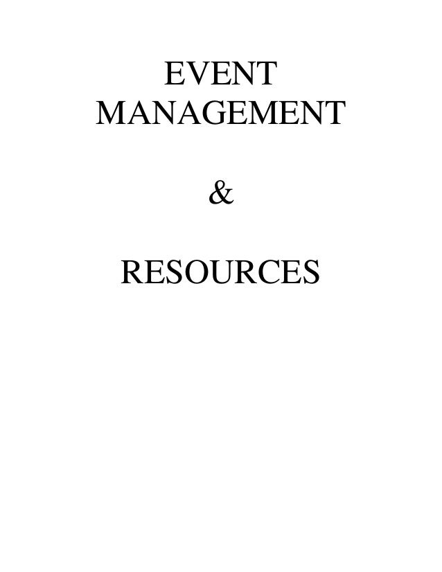 EVENTMANAGEMENT    &RESOURCES